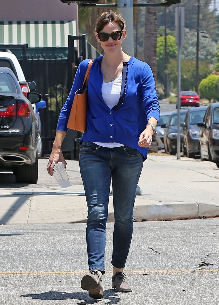 Jennifer Garner looked happy on Tuesday while out in LA.