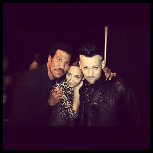 Nicole Richie spent Father's Day in Australia with her dad, Lionel Richie, and husband Joel Madden. Source: Twitter user nicolerichie