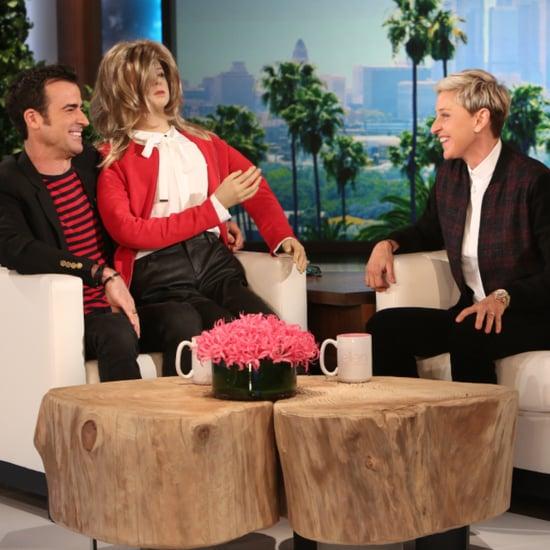 Justin Theroux on Ellen DeGeneres Show October 2015