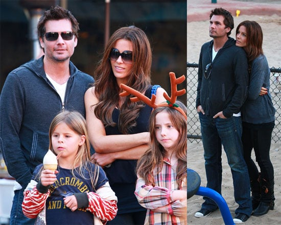 Photos of Kate Beckinsale, Lily Sheen, Len Wiseman at the Park in LA