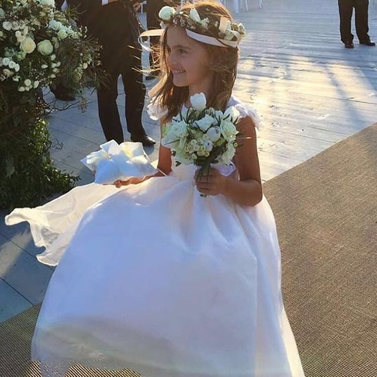 Alessandra Ambrosio's Daughter, Anja, as a Flower Girl