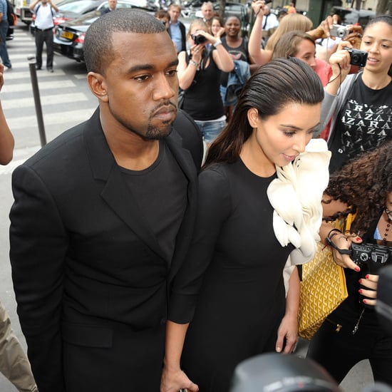 Kim Kardashian and Kanye West at Paris Fashion Week (Video)