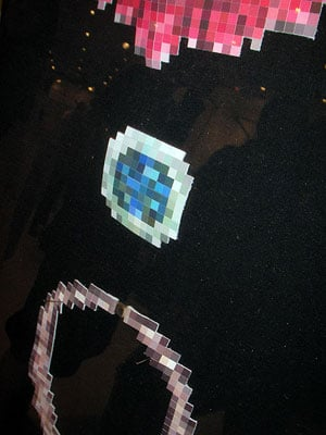 Pixelated Leather Jewelry