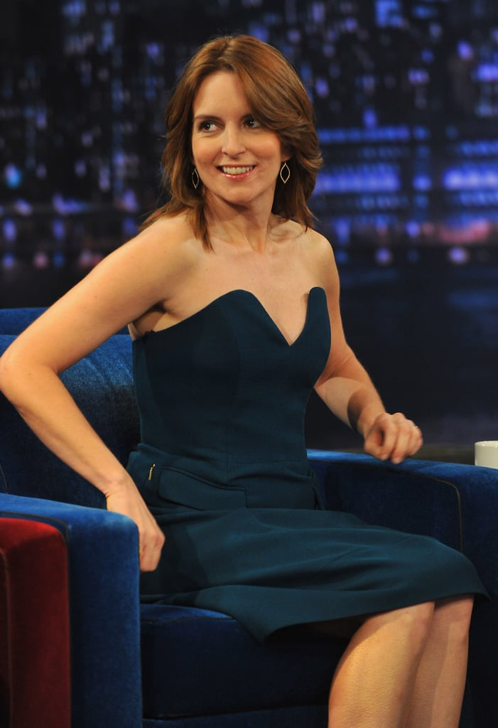Tina Fey sat down for an interview on Late Night.