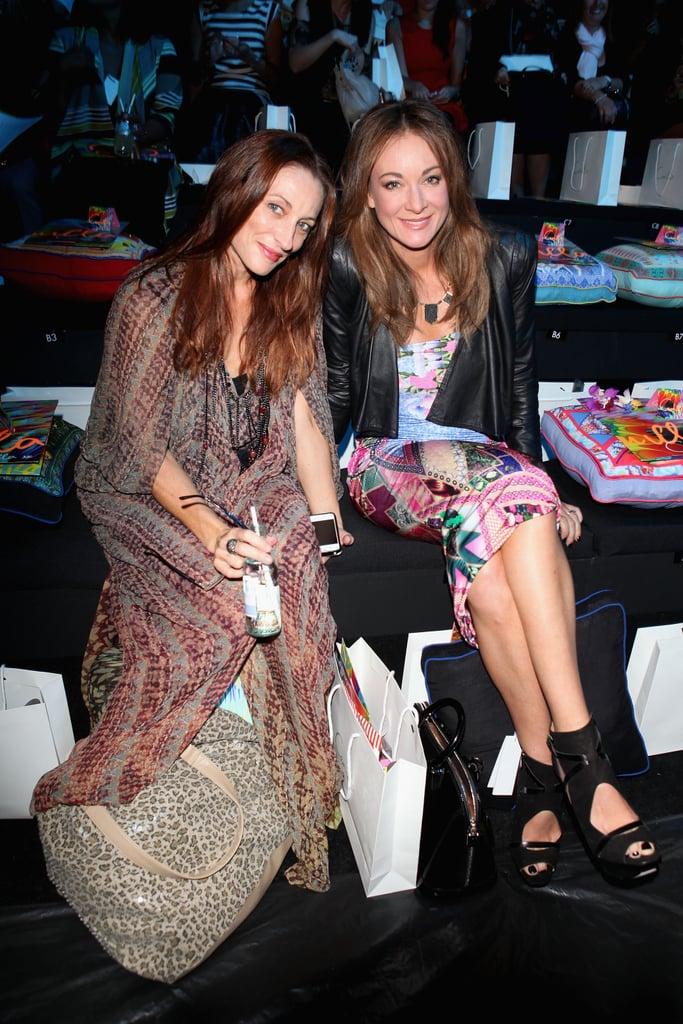 Georgie Parker and Michelle Bridges at Camilla