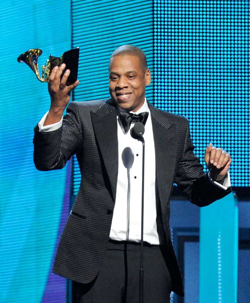 """Jay Z raised his statute, telling everyone it was a """"gold sippy cup"""" for his daughter, Blue Ivy Carter."""