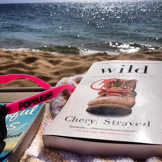 "Shannonvestal took a sandy reading break, writing, ""Beach reading day with my POPSUGAR shades."""