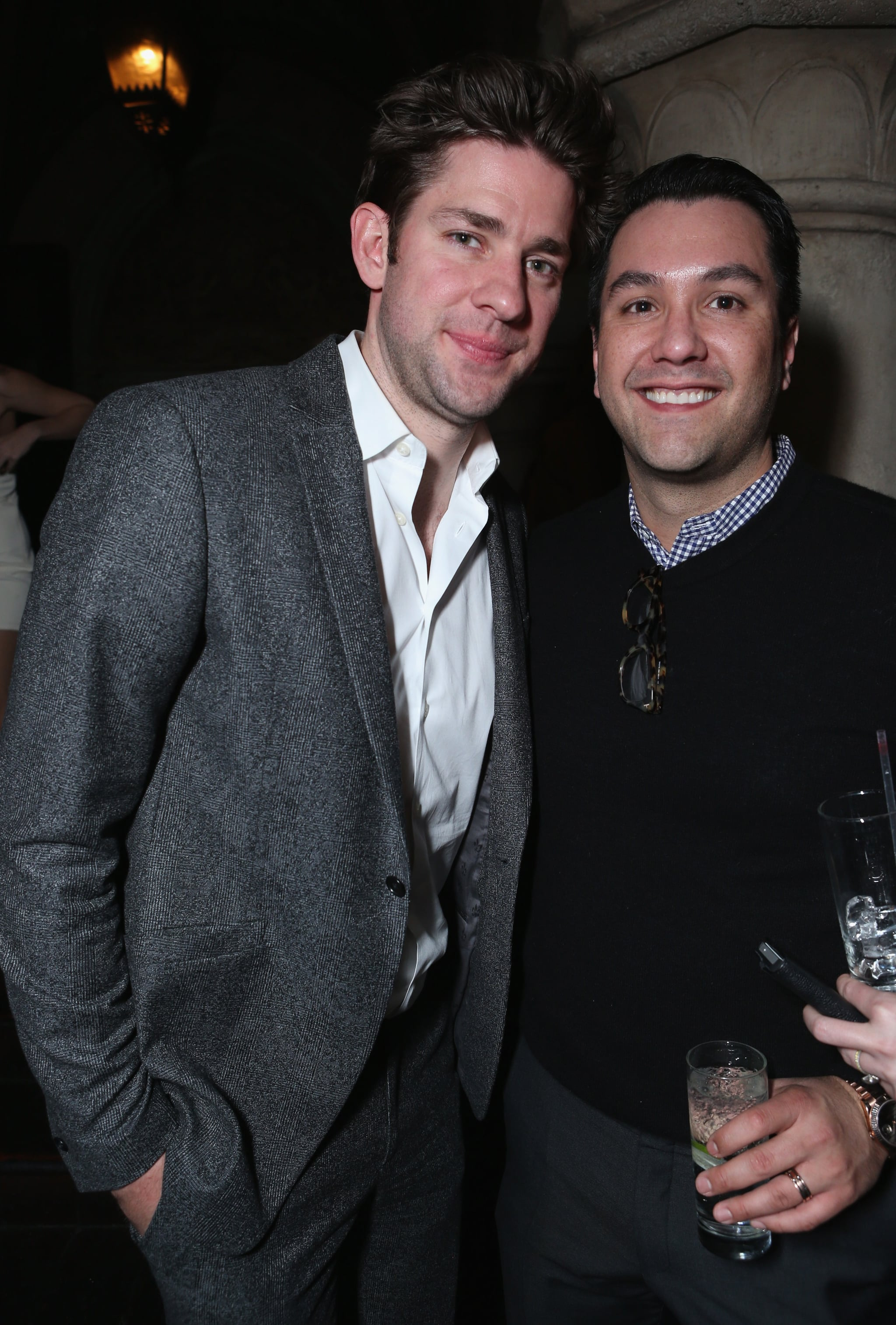 John Krasinski chatted with Warren Zavala at the Grey Goose event.