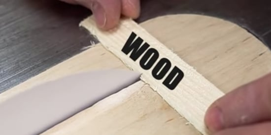 Carpenter Uses Flimsy Sheet Of Paper To Saw Through Wood