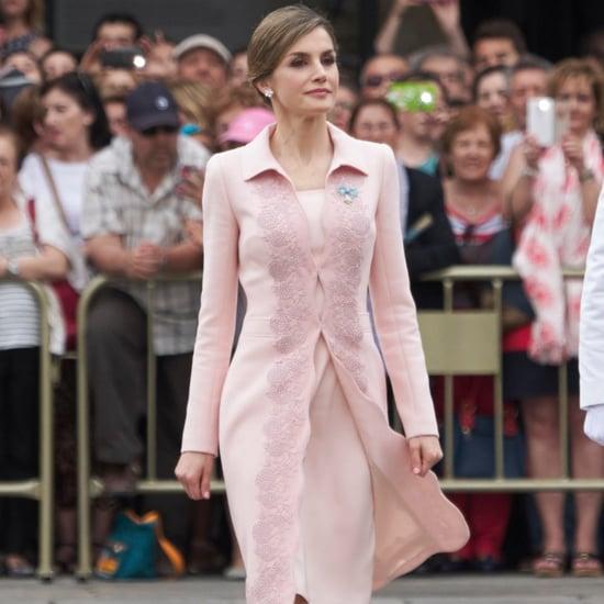 Queen Letizia's Pink Coat June 2016