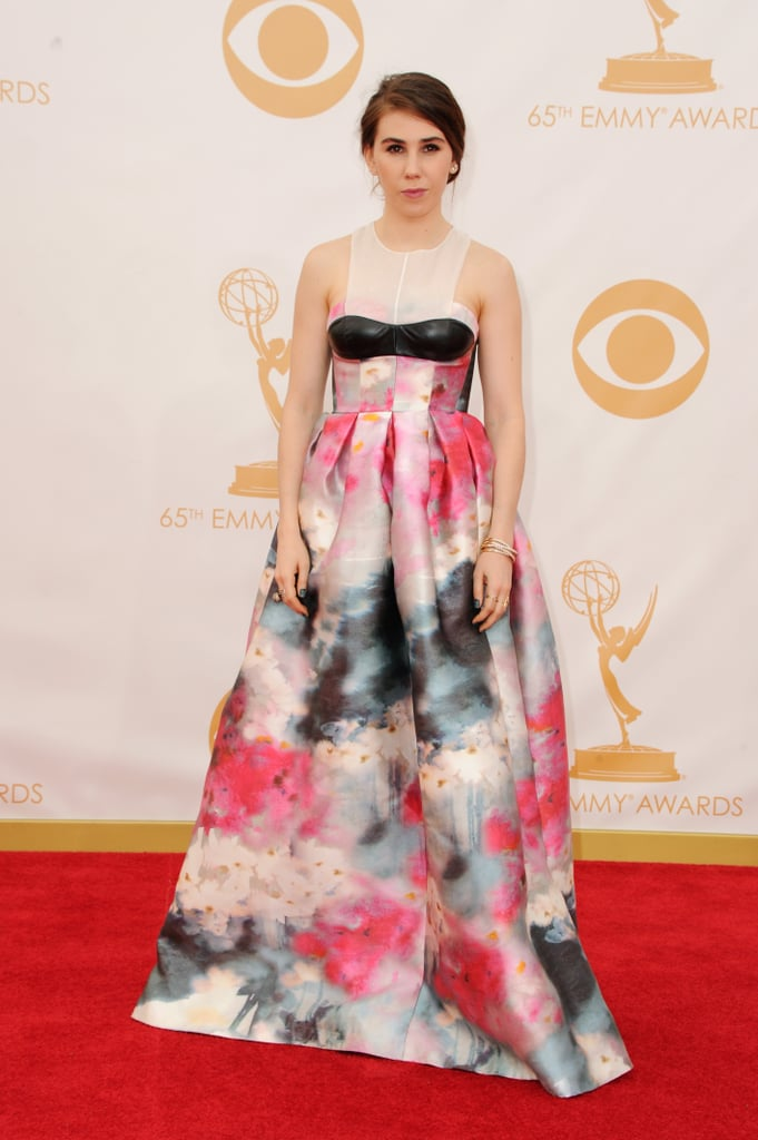 Zosia Mamet looked like a work of art in a custom Honor dress that evoked the beauty of watercolour florals. She finished it off with Brian Atwood heels.