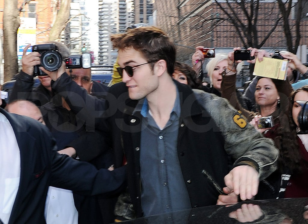 Robert Pattinson and Reese Witherspoon Divide to Conquer Their Morning Press Duties