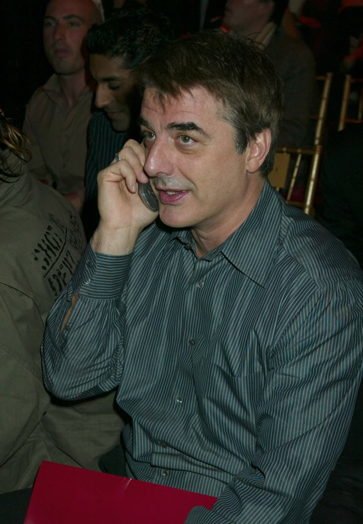 Chris Noth chatted on his cell phone at the 2003 show.