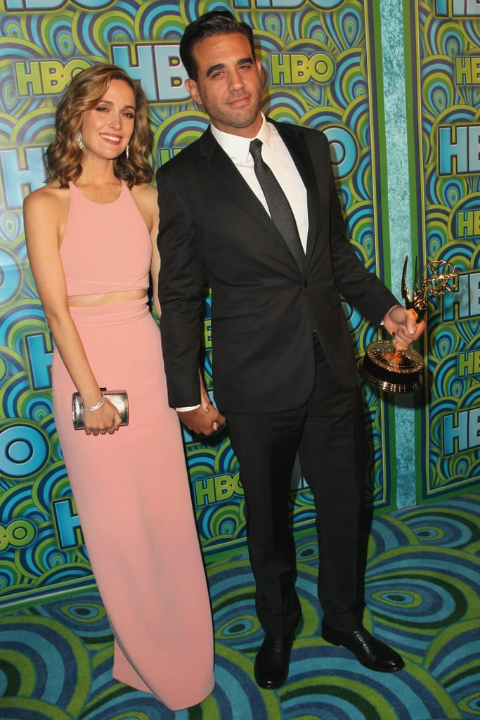 Rose Byrne and her Emmy-winning boyfriend, Bobby Cannavale, held hands at the HBO afterparty.