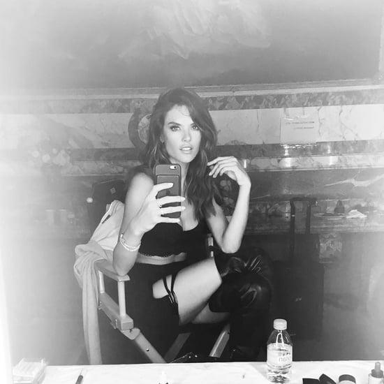 Alessandra Ambrosio's Victoria's Secret Holiday 2016 Selfie