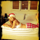 Bar Refaeli wore sexy holiday-inspired pajamas. Source: Instagram user barrefaeli