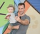James Van Der Beek took a selfie with his son Joshua at an event in LA on Tuesday.