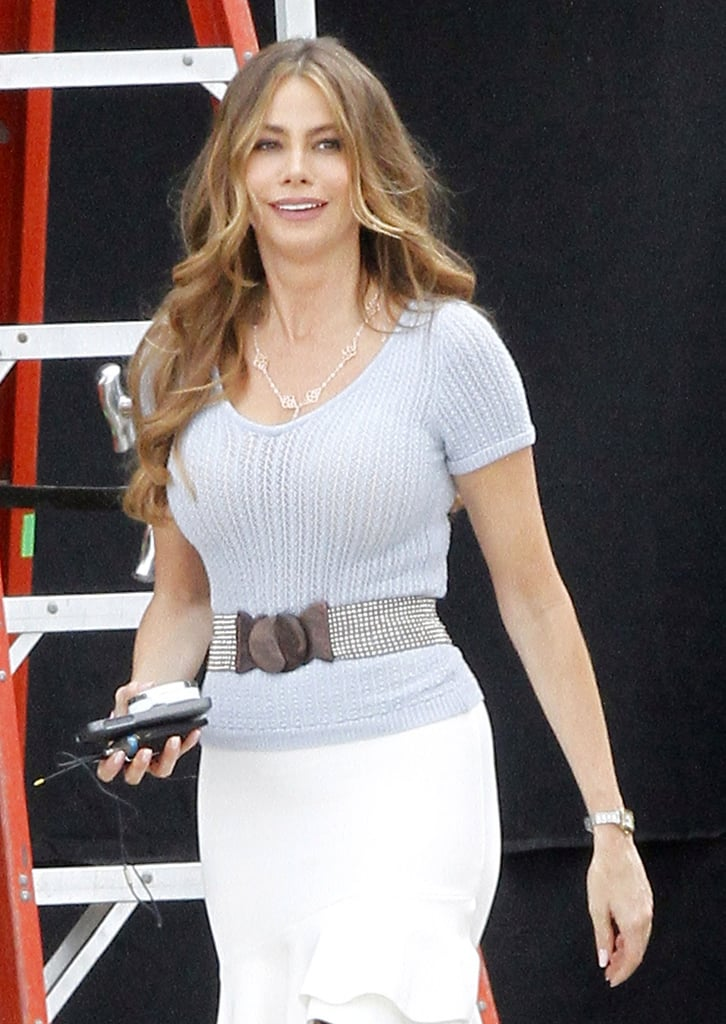 Sofia Vergara couldn't hold back a smile.