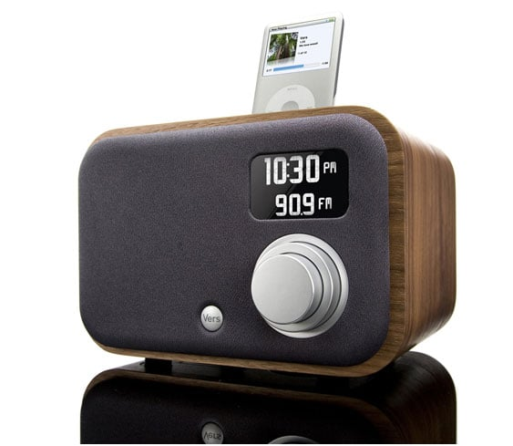 The 1.5R radio alarm ($220) is more than an alarm clock: it's an iPod and iPhone dock and an AM/FM tuner, it has a 3.5mm AUX-out port for other MP3 players, and it's all crammed neatly into a tiny (yet oh-so-stylish) package, complete with a 15-watt speaker.