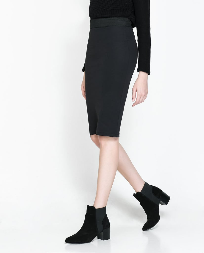If you've pledged to wear jeans less this Fall, look to a slim pencil skirt like this Zara pick ($26).
