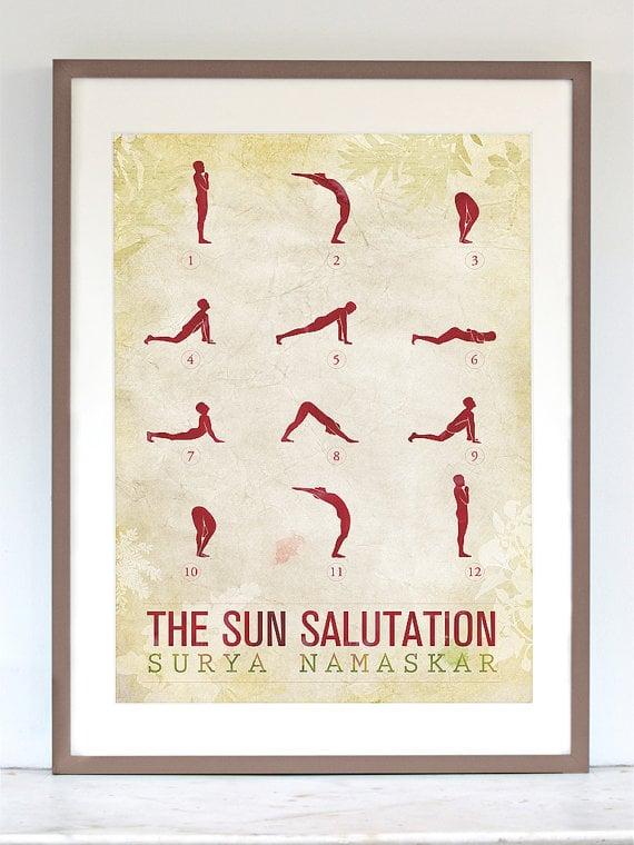 Sun Salutation Poster