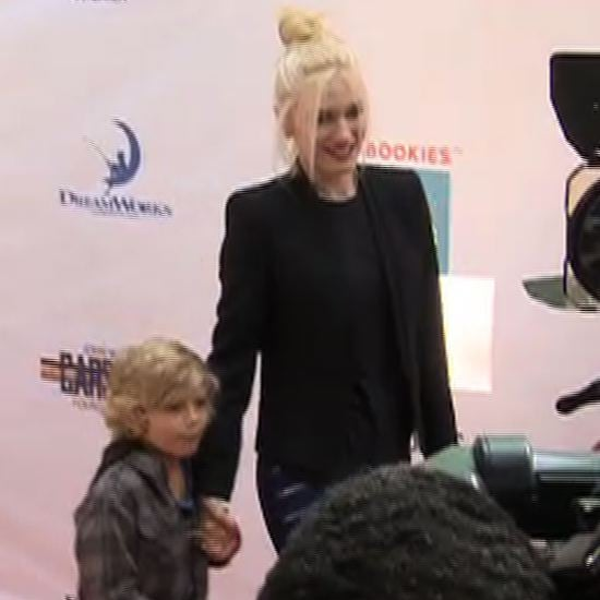 Gwen Stefani and Kingston Rossdale at Milk and Bookies Video
