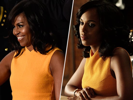 Fashion Faceoff: Olivia Pope Wore Michelle Obama's State of the Union Dress on Scandal