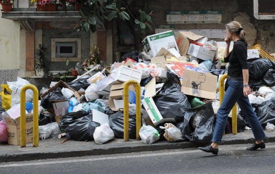 Naples Sets Trash On Fire