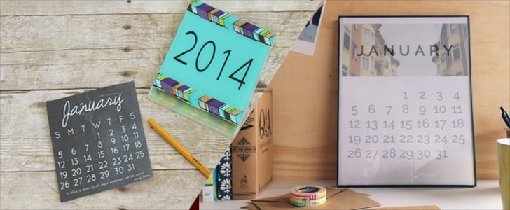 28 Free and Chic 2014 Calendar Printables