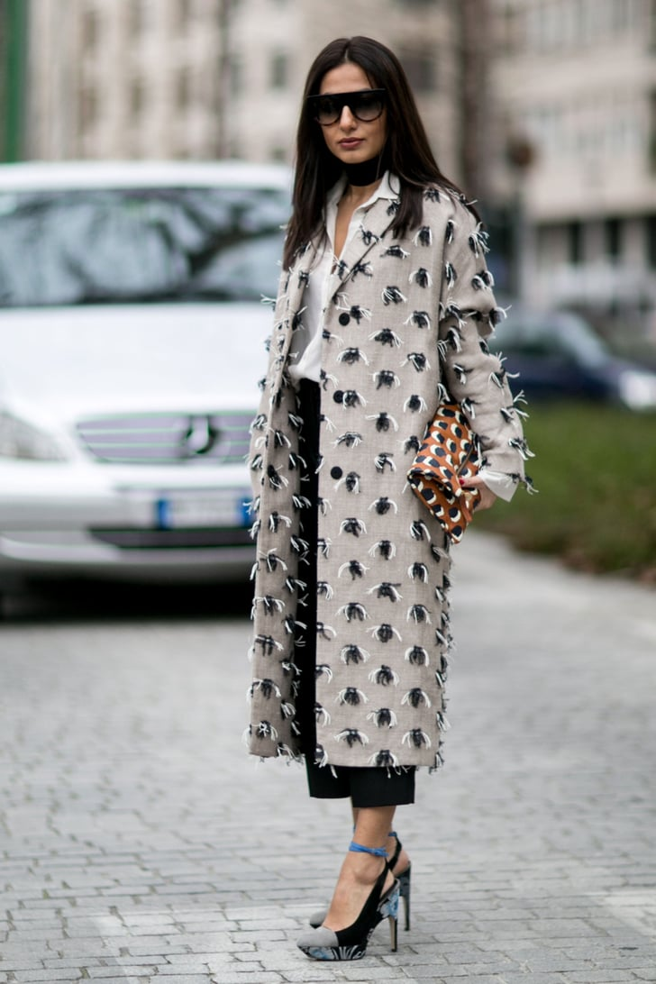 Day 2 The Best Street Style Looks From Milan Fashion Week Popsugar Fashion
