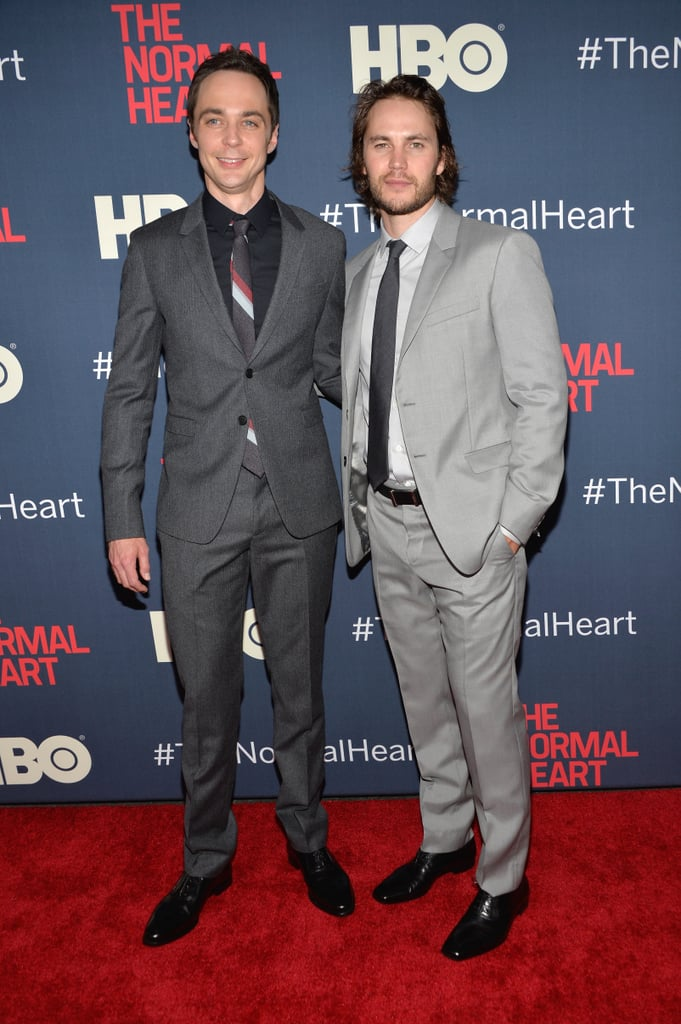 Jim Parsons and Taylor Kitsch walked the carpet together.