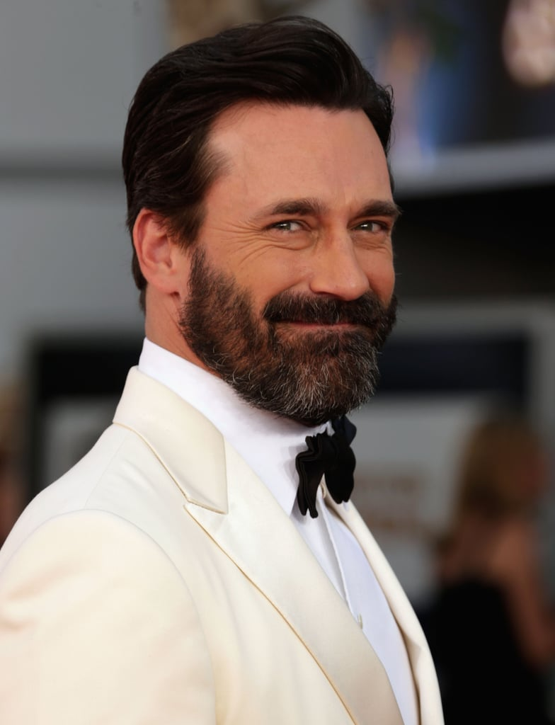 Jon Hamm brought the stud factor to the Emmys red carpet.