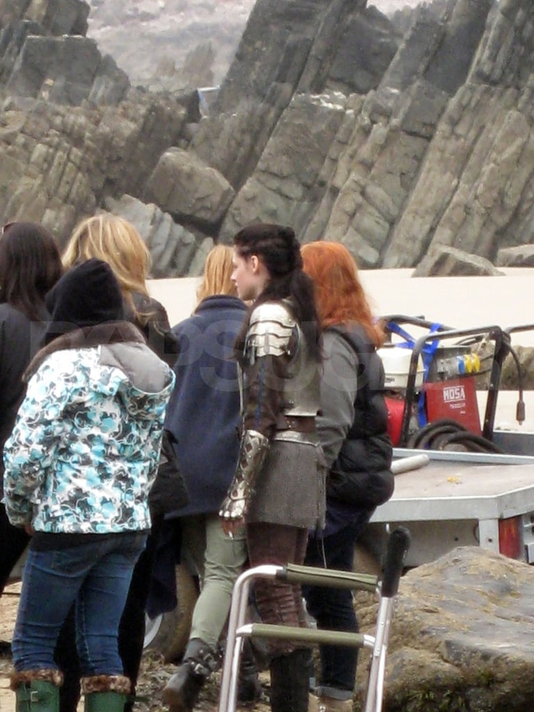 Kristen Stewart gets to work on Snow White and the Huntsman in Wales.