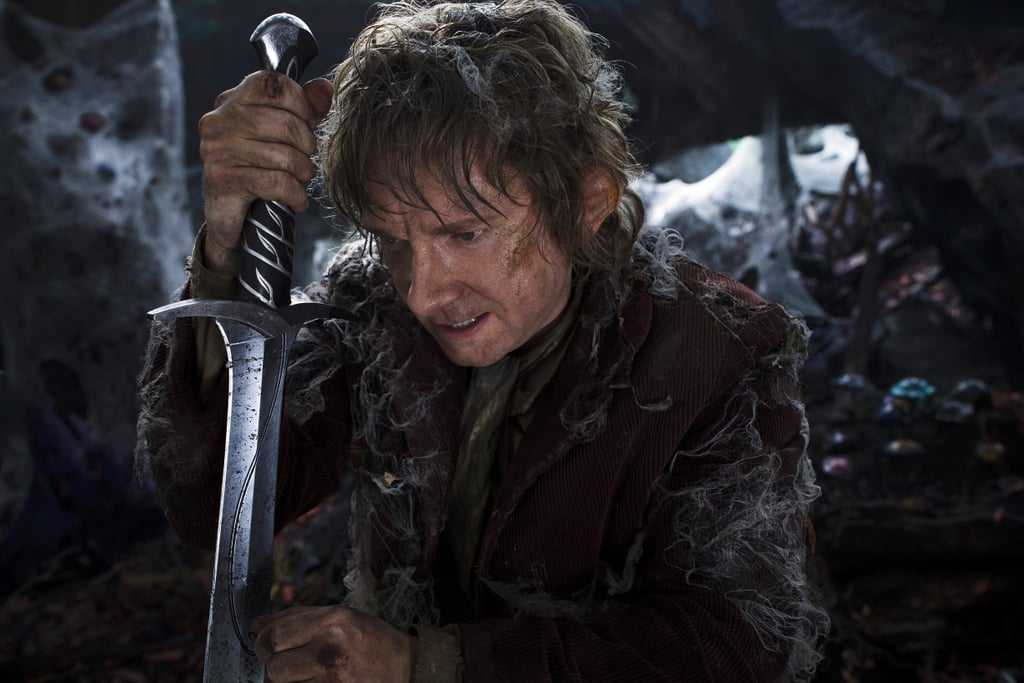 The Hobbit: The Desolation of Smaug  What it's about: Bilbo Baggins (Martin Freeman) returns, this time to defeat the dragon Smaug, voiced by Benedict Cumberbatch. Why we're interested: Orlando Bloom comes back to the big screen as Legolas! Evangeline Lilly and Luke Evans also join the party for this installment of Peter Jackson's exploration of Middle Earth. When it opens: Dec. 13 Watch the trailer for The Hobbit: The Desolation of Smaug.