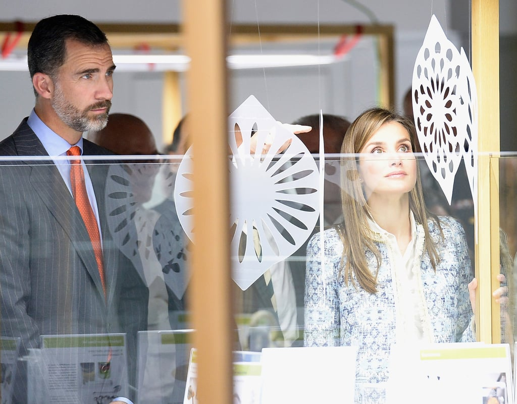"""Prince Felipe and Princess Letizia also checked out an exhibition called """"Tapas. Spanish Design for Food"""" on Tuesday in Miami as part of their US tour."""