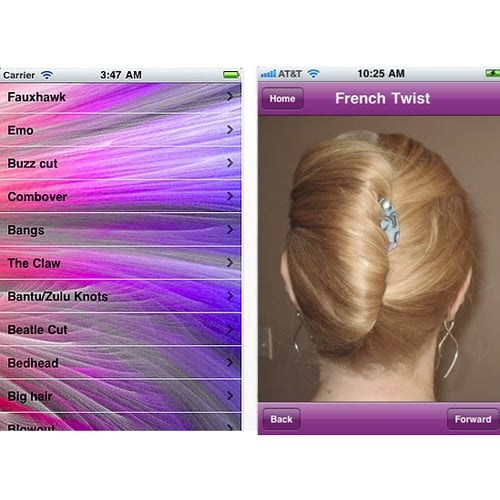 The Hairstyle Name iPhone App