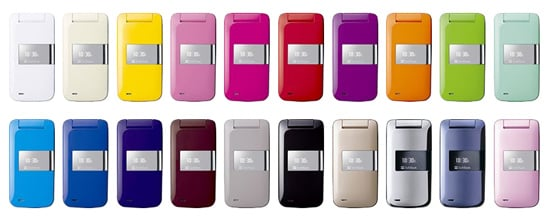 Softbank Cell Phones Come In 20 Pantone Colors