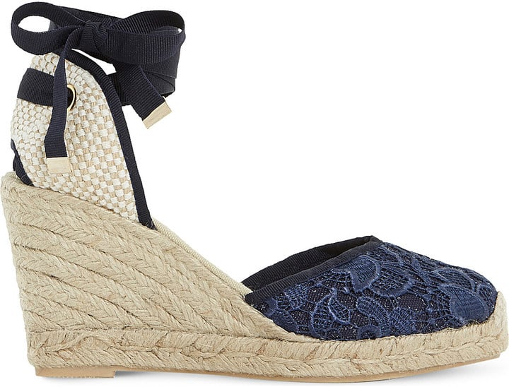 Dune Kloss Crochet Espadrille Wedge Sandals ($90)