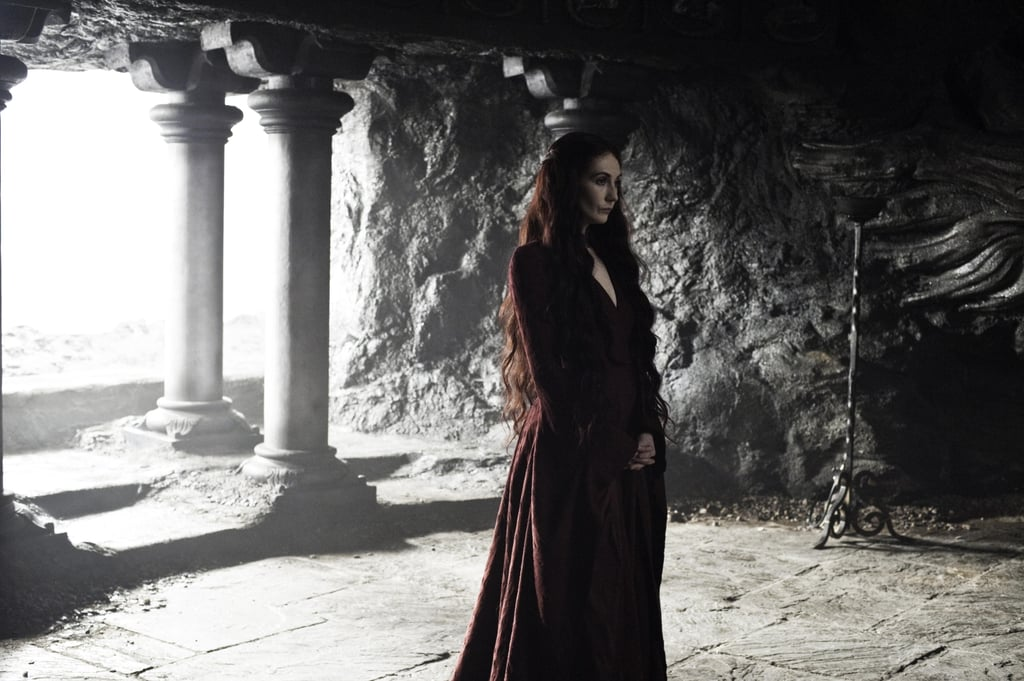 Melisandre (Carice van Houten) is still lurking around Stannis.