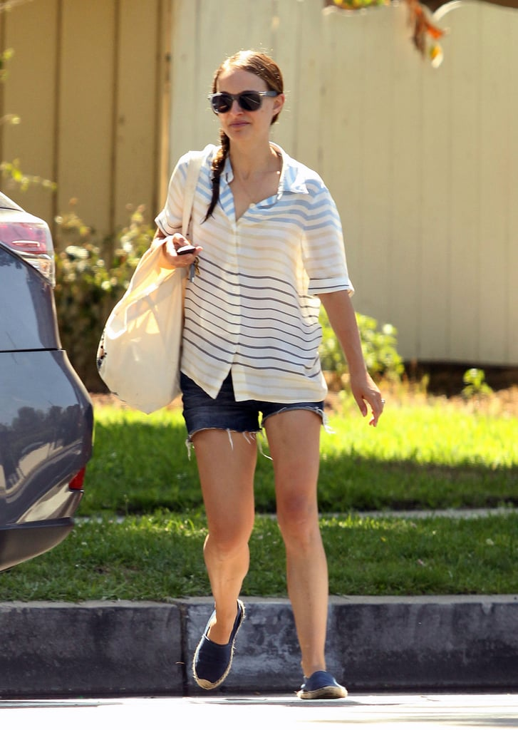 Natalie Portman stepped out with her son, Aleph, on Thursday in LA.