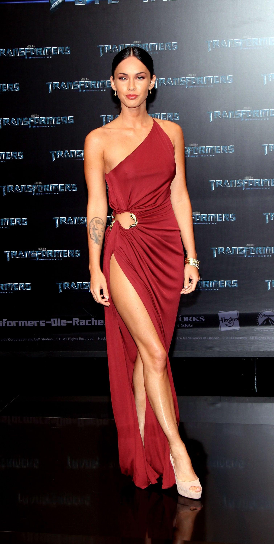 Megan Fox in Roberto Cavalli at the 2009 Transformers: Revenge of the Fallen Germany Premiere