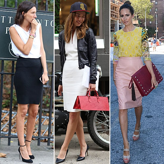 Fashion Week Street Style Pencil Skirt Trend