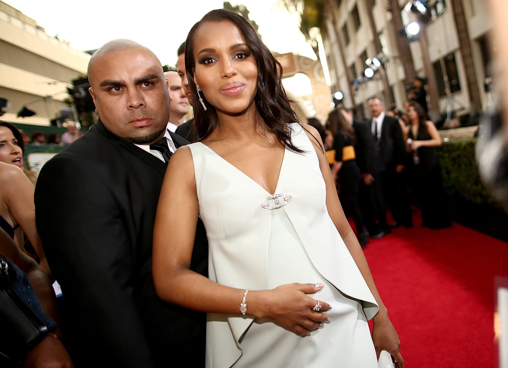 Kerry Washington Debuted Her Bump . . . and Her Lurking Bodyguard