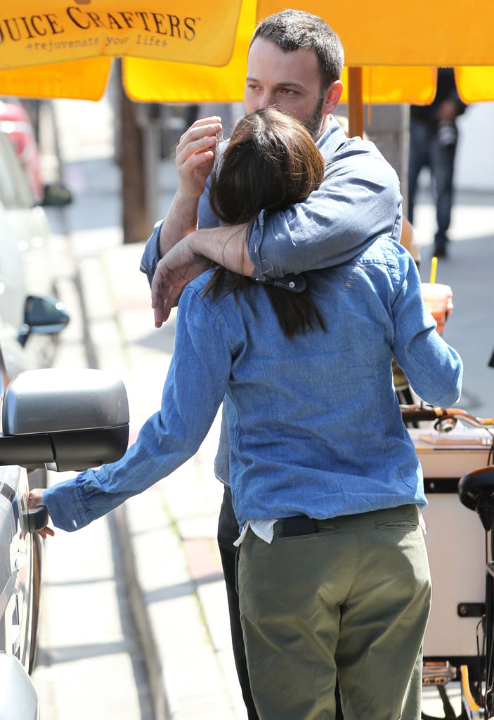 Ben Affleck and Jennifer Garner cuddled in Pacific Palisades in March.