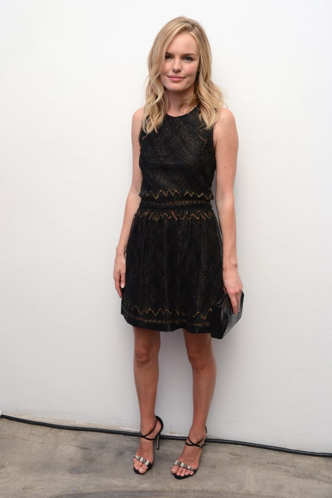 Kate Bosworth got dressed up in a Theyskens' Theory dress for the Whitney Art Party in NYC.