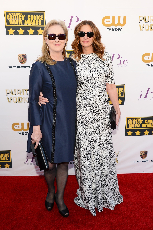 At the Critics' Choice Awards, Meryl Streep and Julia Roberts rocked coordinating shades.