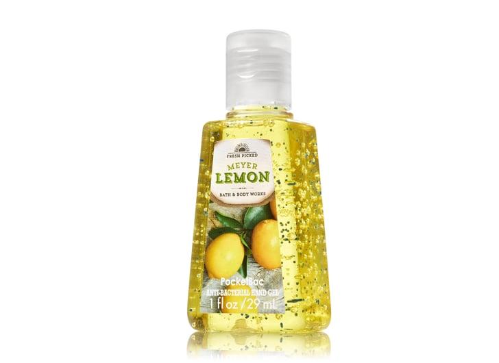 Bath & Body Works PocketBac Sanitizing Hand Gel in Meyer Lemon, $2