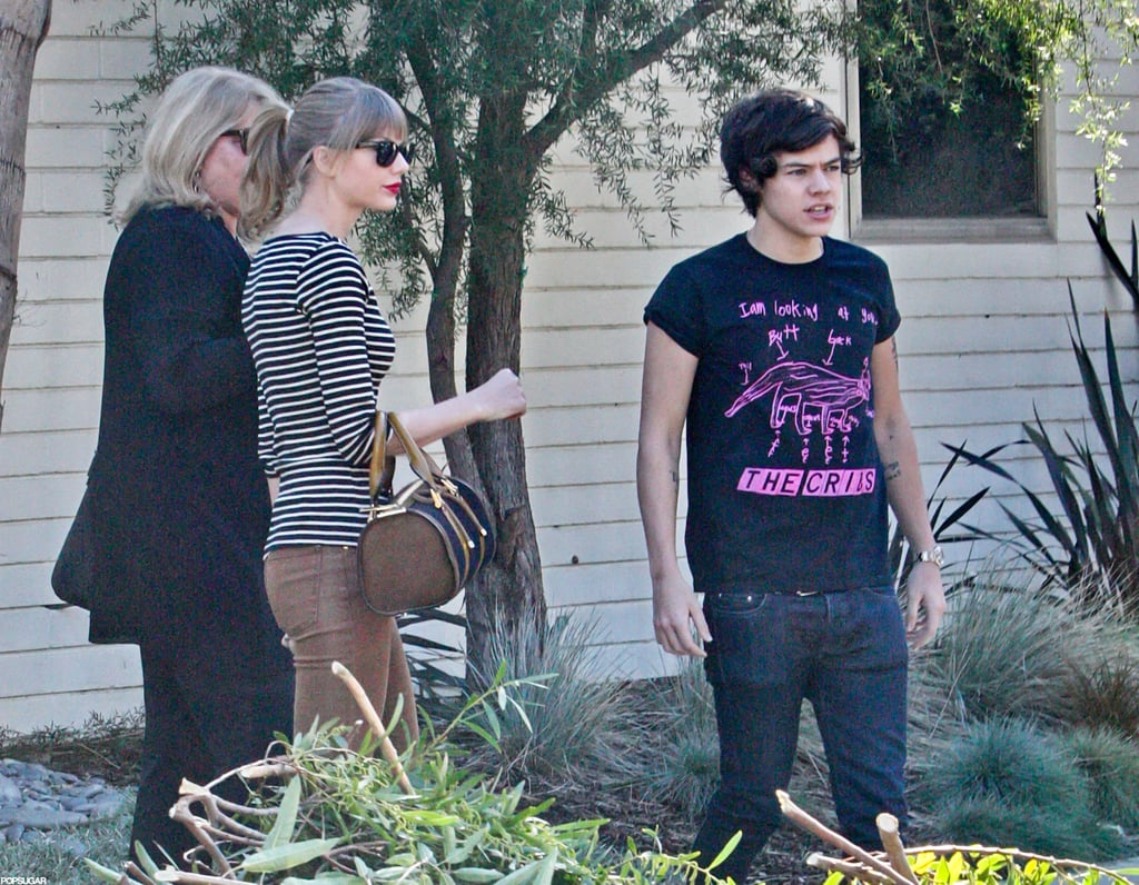 Harry Styles and Taylor Swift stood outside her LA home.