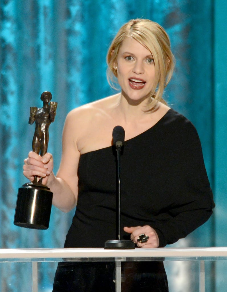 Claire Danes accepted the SAG for an outstanding performance in the drama Homeland.