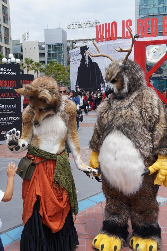 The face detail of these animal costumes is so well done.